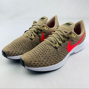 New Nike Air Zoom Pegasus 35 Beige/Red